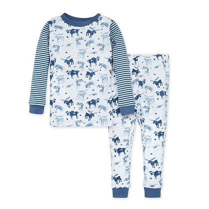 Antler Family Organic Baby Snug Fit Pajamas