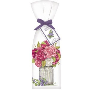 Roses in a Jar Towel Set
