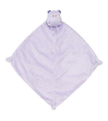 Lilac Hippo Lovey Blankie