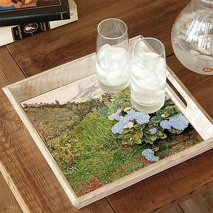 Aqua Retorta Hydrangea Wooden Serving Tray