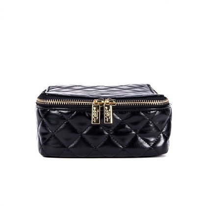 Black Quilted Hidden Gem Jewelry Case