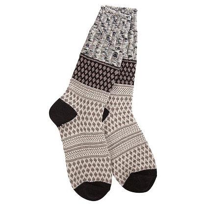 World's Softest Weekend Gallery Textured Crew Socks Oatmeal Confetti