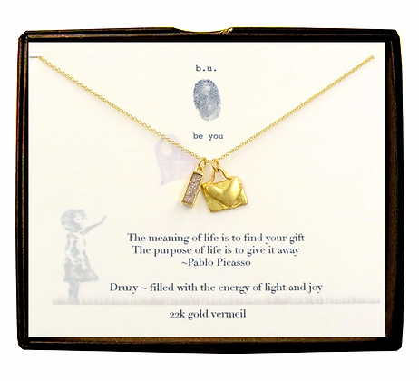 The Meaning of Life Necklace Gold