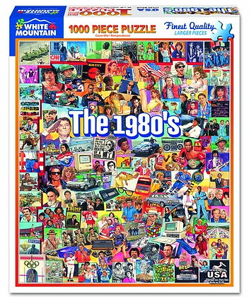The 1980's 1000pc Jigsaw Puzzle
