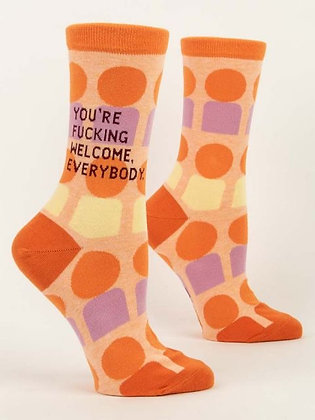 You're F****** Welcome, Everybody Women's Crew Socks
