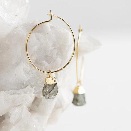Bella Earrings--Labradorite