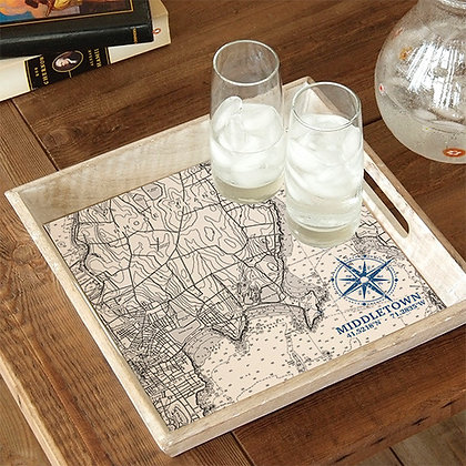 Middletown Map Wooden Serving Tray