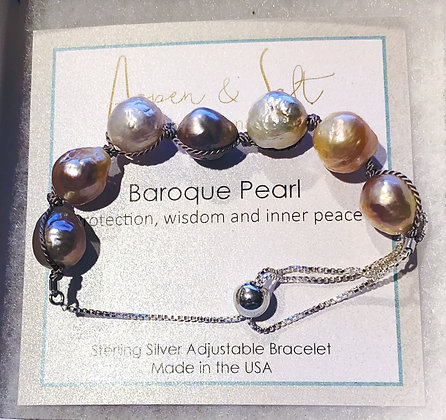 Baroque Pearl Adjustable Bracelet
