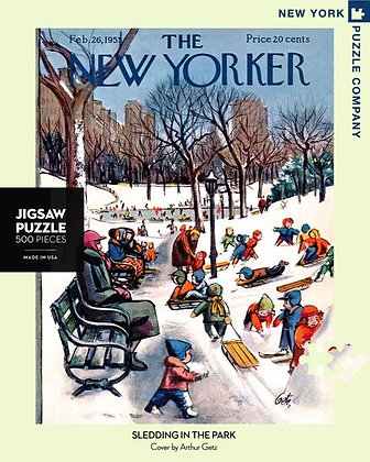 Sledding in the Park 500pc Jigsaw Puzzle