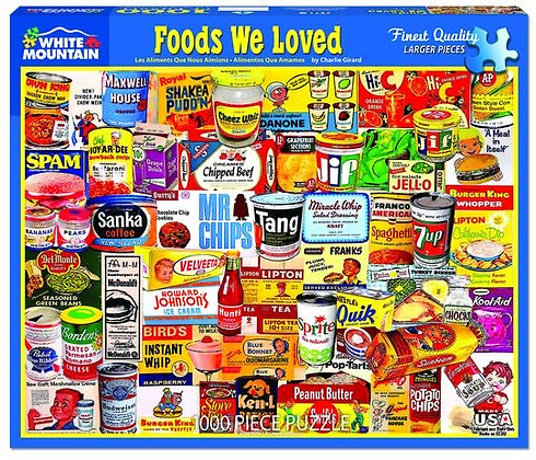 Foods We Loved 1000pc Jigsaw Puzzle