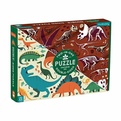 Dinosaur Dig Two-In-One Double-Sided Puzzle