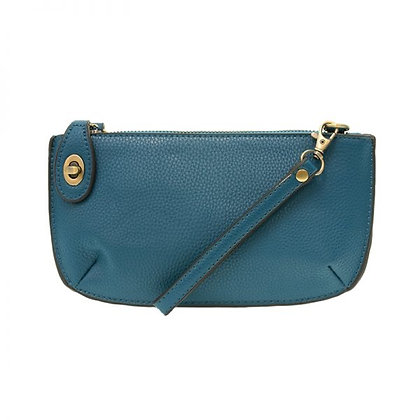 Monaco Blue Mini Crossbody Wristlet Clutch