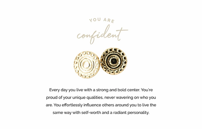 Confident Earrings Gold