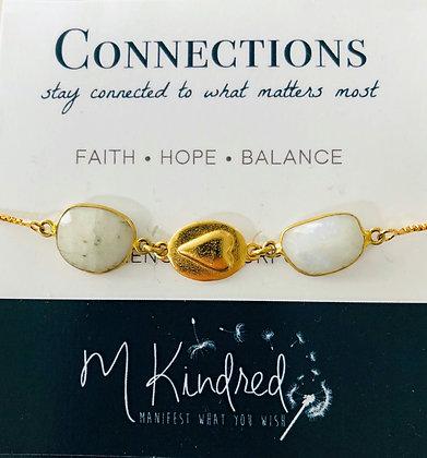 Connections Heart Triple Slide Bracelet