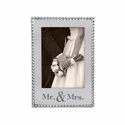 Mr. & Mrs. Beaded 5x7 Vertical Frame