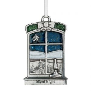 Silent Night 2018 Annual Ornament from Danforth Pewter
