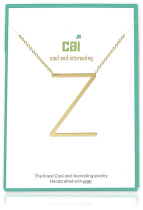 Medium Sideways Initial Necklace--Z