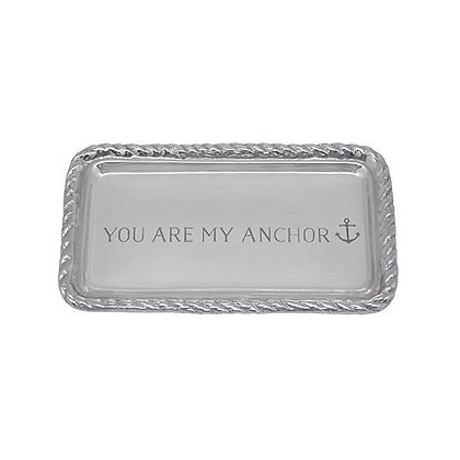 You Are My Anchor Rope Statement Tray