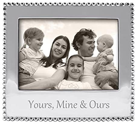 Yours, Mine & Ours Beaded 5x7 Frame