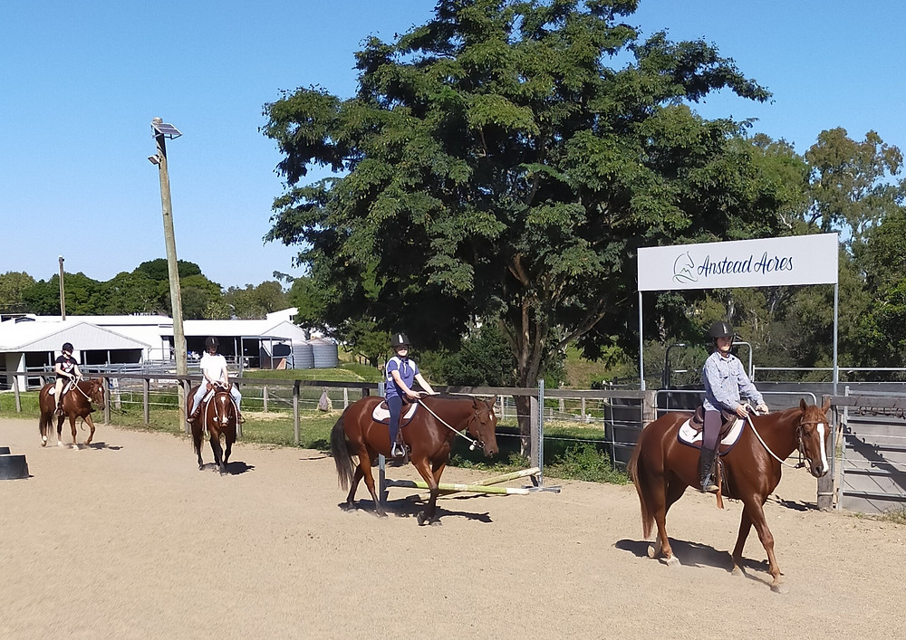 A group of riders at Anstead Acres.