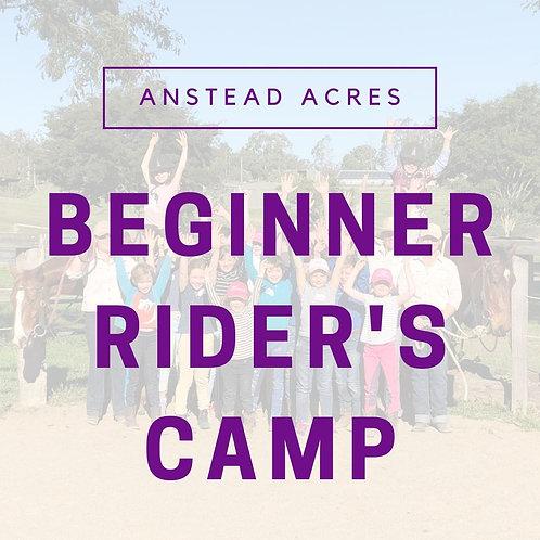 Beginner Rider's Camp
