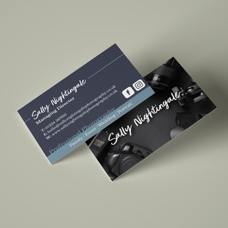 Sally Nightingale Business Cards Mockup.