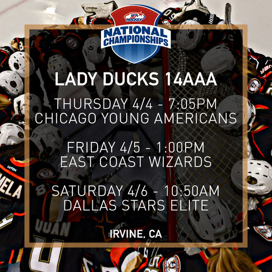 2019 USA Hockey Nationals Schedules