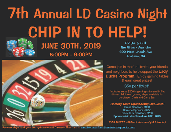 2019 LD Alumni Game & Casino Night