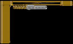 Карниз hameleon Design & Electric- Глянцевый золотой