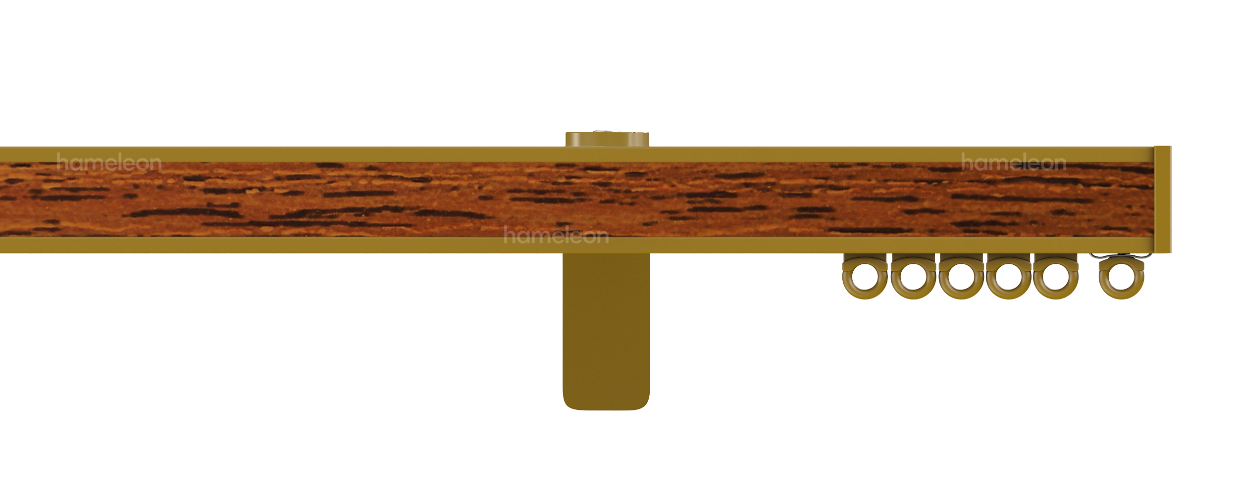 Карниз 1070 hameleon - Глянцевый золотой