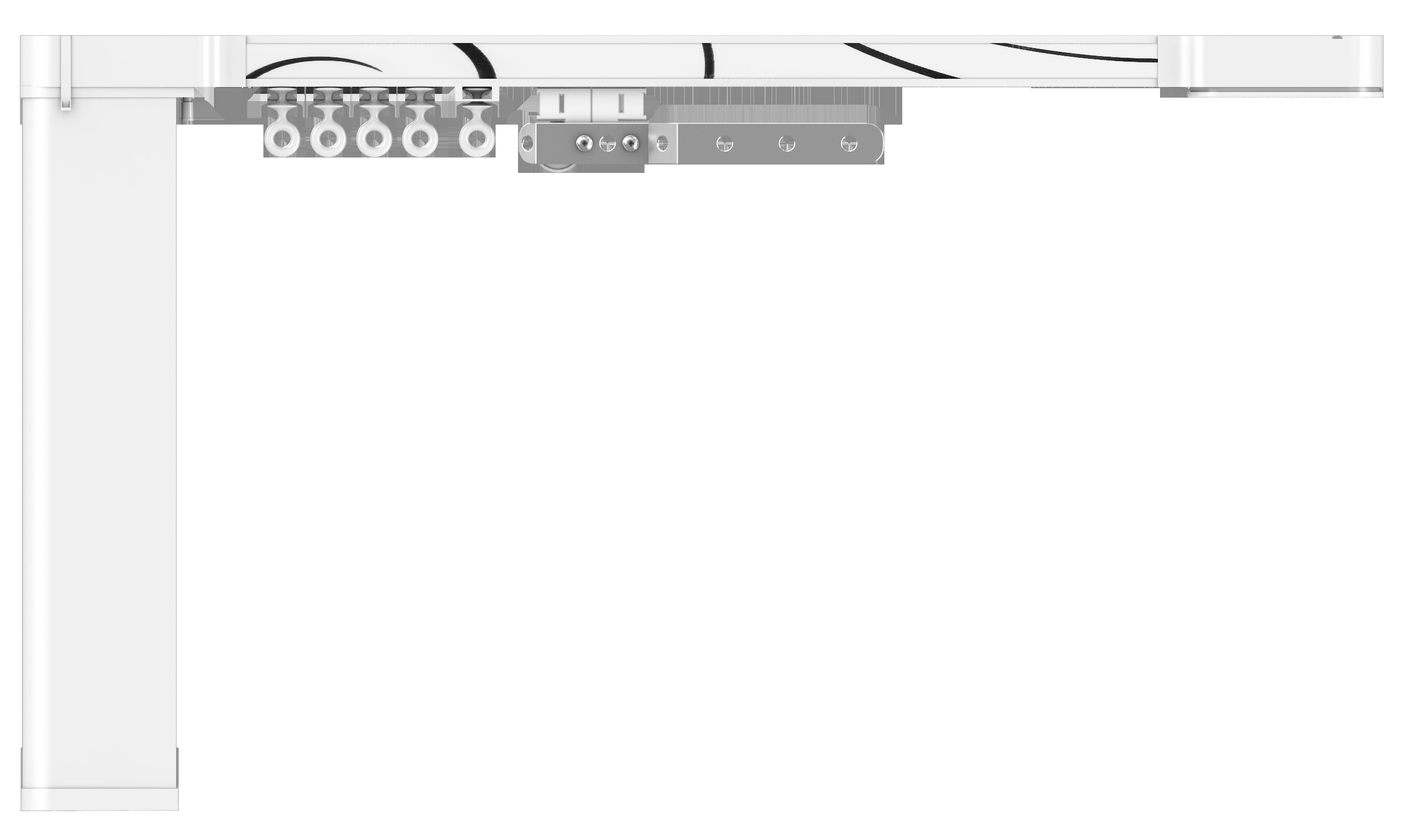 Карниз hameleon Design & Electric- Глянцевый белый
