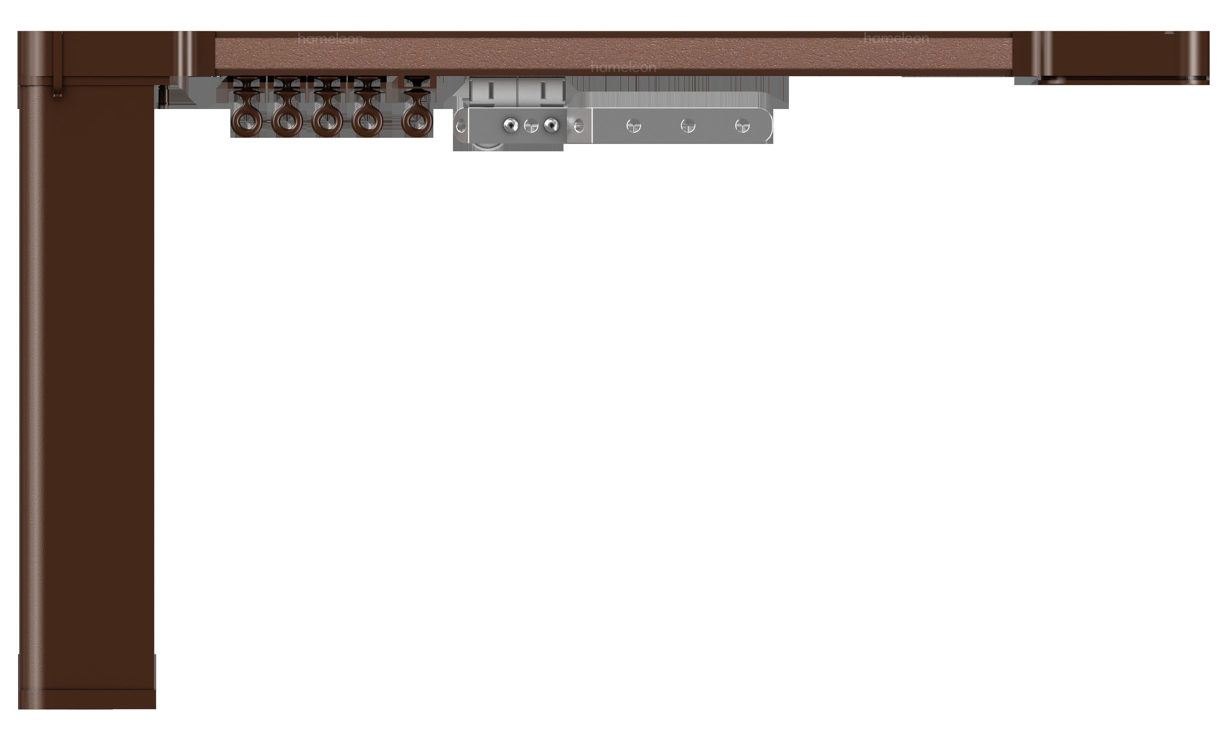 Карниз hameleon Design & Electric- Глянцевый коричневый
