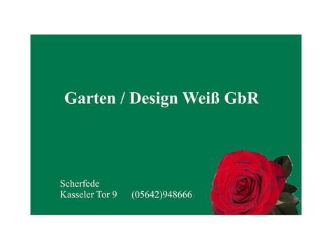 Gartendesign Weiß