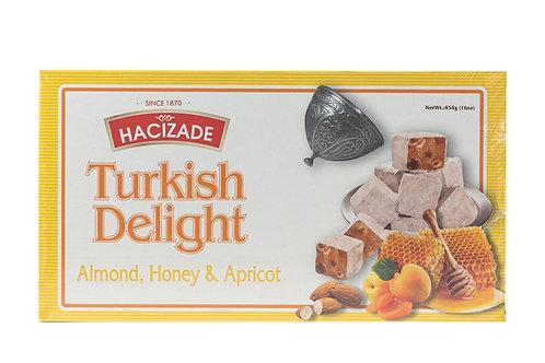 Hacizade Turkish Delight w/Almond, Honey & Apricot
