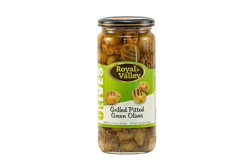 Royal Valley Grilled Pitted Green Olives