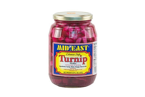 Mid East Lebanese Style Turnip Pickles