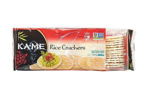 Kame Rice Crackers Wasbi