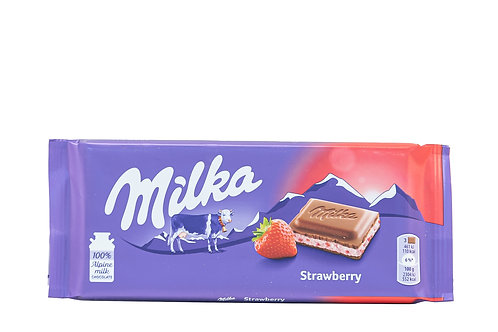 Milka Milk Chocolate w/Strawberry Filling