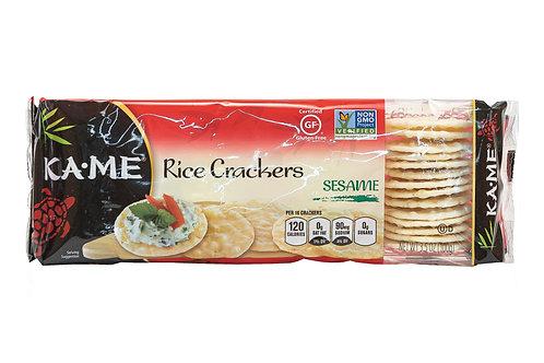 Kame Rice Crackers Sesame