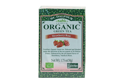 St. Dalfour Organic Green Tea Strawberry Rose