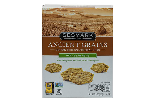 Sesmark Parmesan Herb Brown Rice Snack Crackers