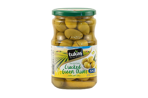 Tukas Cracked Green Olives
