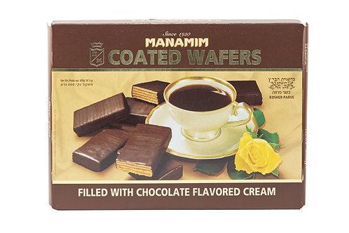 Manamim Coated Wafers Filled w/Chocolate Flavored Cream