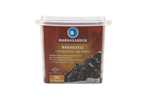 Marmarabirlik Spicy Natural Black Olives