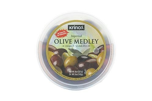 Krinos Olive Medley in Vinegar Brine & Olive Oil