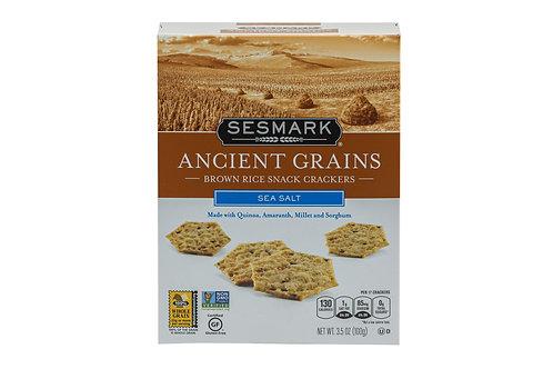 Sesmark Sea Salt Brown Rice Snack Crackers