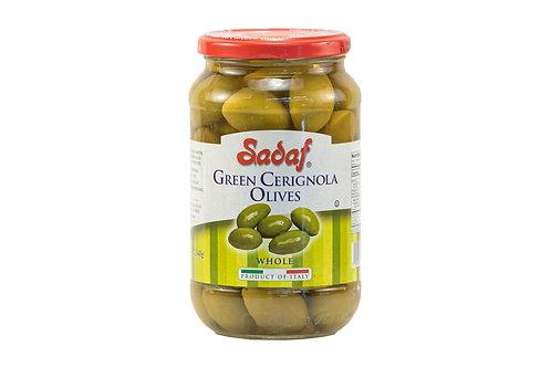Sadaf Green Cerignola Olives