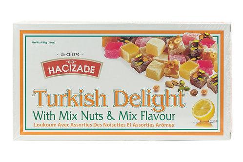 Hacizade Turkish Delight w/Mixed Nuts & Mixed Flavor