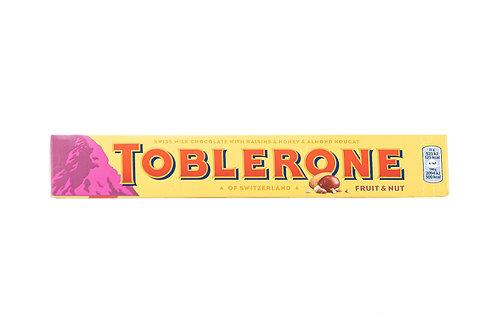 Toblerone Swiss Milk Chocolate w/Raisins, Honey & Almond Nougat