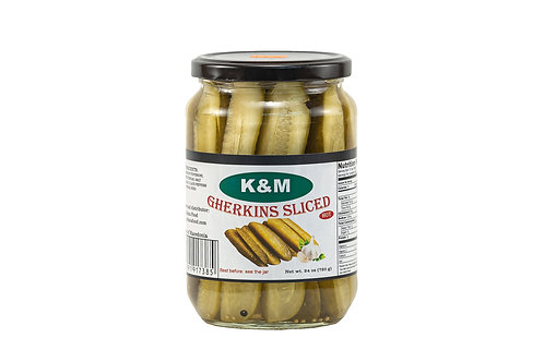 K&M Gherkins Sliced Hot
